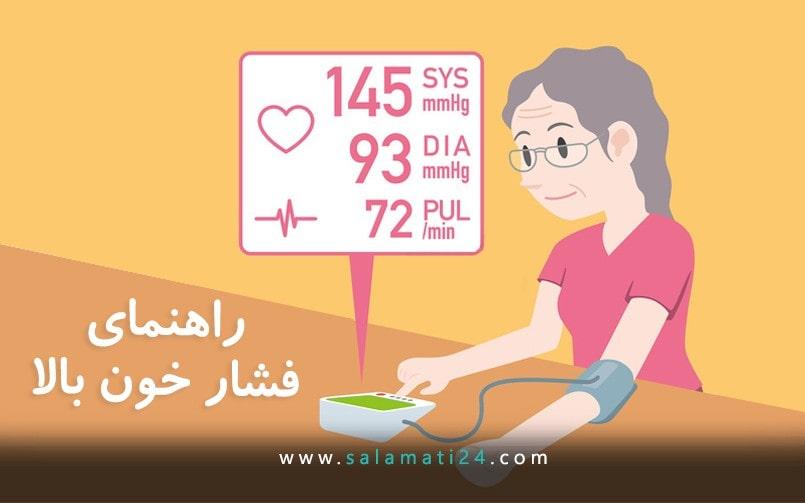 راهنمای تصویری برای فشار خون بالا